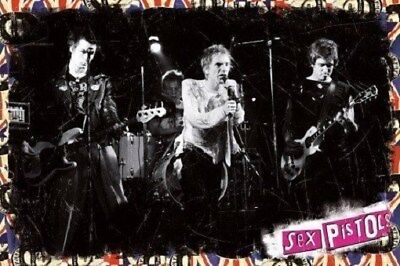 THE SEX PISTOLS ~ LIVE ON STAGE ~ 24x36 MUSIC POSTER ~ Sid Vicious Johnny Rotten