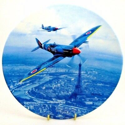 Airplane ~ Flights of Freedom ~ Celebration Over Paris ~ Royal Doulton Plate