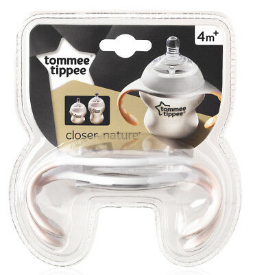 Tommee Tippee Bottle Handles x2 for Comfortable Baby Feeding 4 Months GIRLS PINK