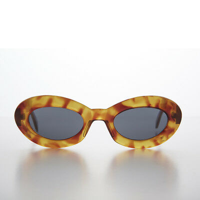 Glam Mod Cat Eye Sunglass with Gold Bling Tortoise- Athens