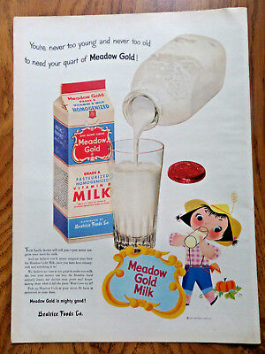 1953 Meadow Gold Milk Beatrice Foods Ad
