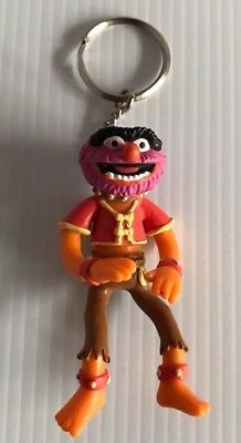 The Muppets Applause Henson ANIMAL Vintage 1996 Key Ring Keychain