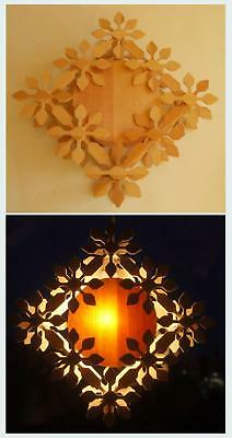 Swedish Xmas: Wooden handmade Advent/Christmas star to hang, for electricity