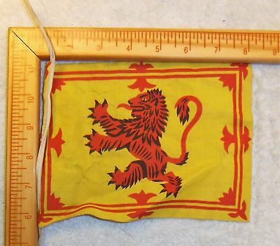 British Scottish Ww1 Ww2 Original Flag Small Display Size Or Soldiers Kit Bag