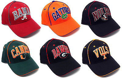 ce46de85aa1 Ncaa Playmaker Adjustable Hat Cap Logo Arch Text Mascot Curved Bill  Football Nwt