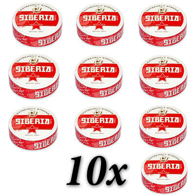 Snus Siberia 80 Degrees Chew snuff Extremely Strong Red Label White Dry Nicotine