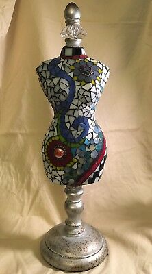 Mosaic Glass Art Female Torso, Signed, Great Goddess Art, OOAK
