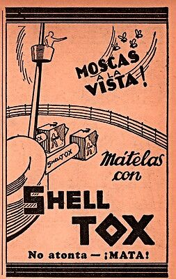 1931 Ad  Argentina  Shell Tox Insect Killer