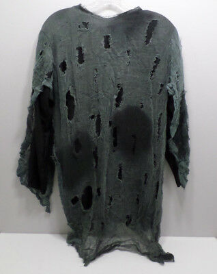 Long Sleeve Tattered Ghost Zombie Ghoul Shirt Halloween Costume Adult size Large