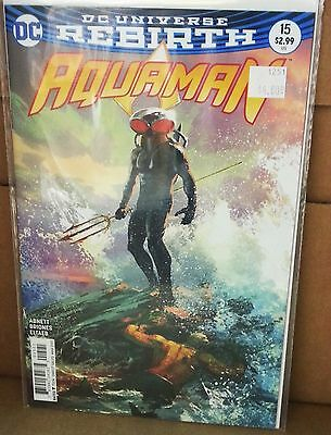 Aquaman #15 Joshua Middleton Variant Rebirth Cover - Dc Comics 2017