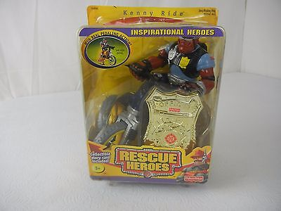 Fisher Price Rescue Heroes Kenny Ride Inspirational Heroes NIP!!