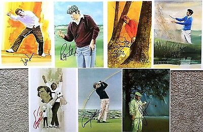 7 GOLF GREATS  signed autographs