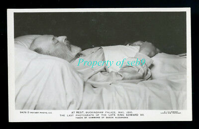 1910 Post Mortem Death Bed Photo King Edward Vii ~Ultra Rare Only Known Original
