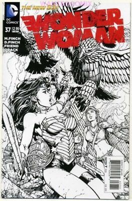 Wonder Woman #37 Black & White Sketch Variant Cover 1:50 Finch New 1 Comic Book