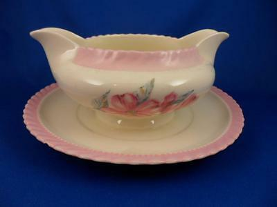 GRAVY BOAT : Steubenville MONTICELLO DOGWOOD PINK Imported by Herman C. Kupper