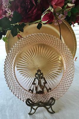 DINNER PLATE: Anchor Hocking Pink Miss America Depression Glass 10.25""