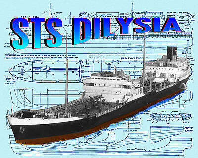 Model Boat 1:150 Scale Oil Tanker  F/S Printed Plan & Article 4 Radio Control
