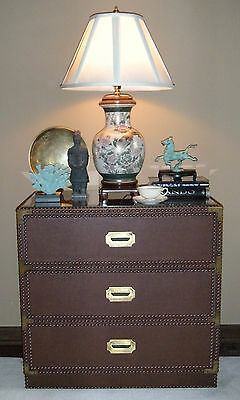Mid-Century Campaign Chest of Drawers