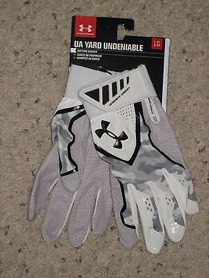 Under Armour Mens Yard Undeniable Baseball Batting Gloves L