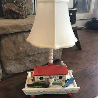 Vtg Irmi Nursery Baby Child Toys Noah's Ark Wooden Animals Night Light Lamp