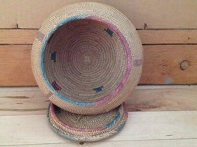 Early Basket With Lid Unknown Origin Vintage
