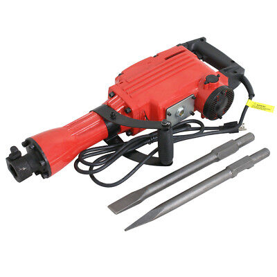 2200W Electric Demolition Jack Hammer Concrete Breaker w/ 2 Chisel + 2 Punch Bit