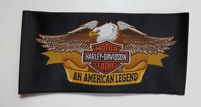 "Motorcycle Patch Harley Davidson ""An American Legend"" Eagle - Racing/Advertising"