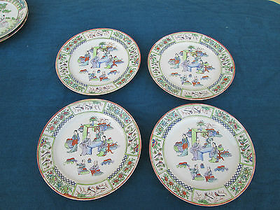 COL SW:  SET OF 4 ANTIQUE 19th CENTURY CHINESE  EXPORT  PLATES