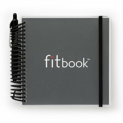 Fitbook: Fitness + Nutrition Journal - Black