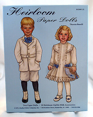 Martha Pullen Uncut Heirloom Paper Dolls 1991 Boxed Set Theresa Boreilli 2 two