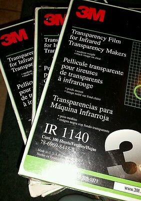 3 BOXES 3M Transparency Film Infrared Transparency Makers IR 1140 100 Sheets NIB