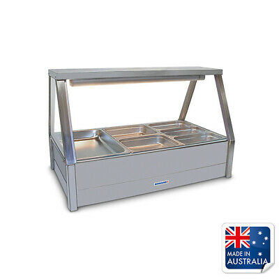Bain Marie / Hot Food Display Angled Double Row 6x 1/2 Pans Roband E23