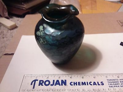 Art Glass Vase  - Signed By Duperron - 5 Inches