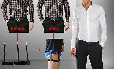 2 pairs of Hidden Suspenders That Hold Your Shirt All Day Long Adjustable Braces