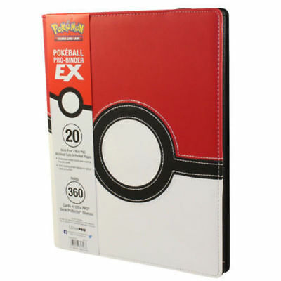 Pokeball Premium Pokemon Ultra Pro Binder 9 / 18 Pocket Portfolio 360 Cards