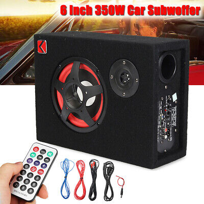 6'' 350W Car Subwoofer Amplifier Speaker Sub Box Amp Stereo Audio Powerful Bass