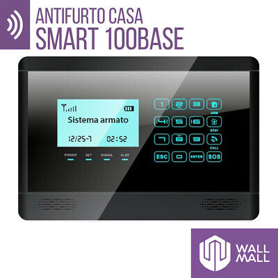 Antifurto Allarme Touch Screen Casa Combinatore Gsm Wireless Smart100Base