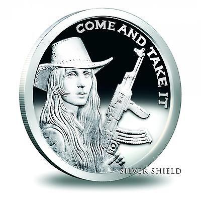 2014 Silver Shield Come And Take It 1 oz .999 Proof COA #862 of 1300 Minted