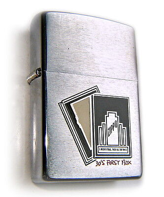"""ZIPPO Vintage 1999 Beautiful """"30' FIRST BOX COMMEMORATIVE Edition"""" Collectible !"""