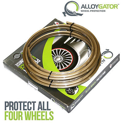 Alloygator Alloy Wheel Rim Protection System Set Of 4 In Gold