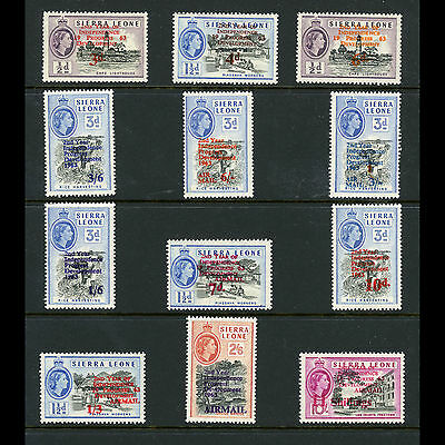 SIERRA LEONE 1963 2nd Anniversary Ovpts. SG 257-268. Mint Never Hinged. (AT179)