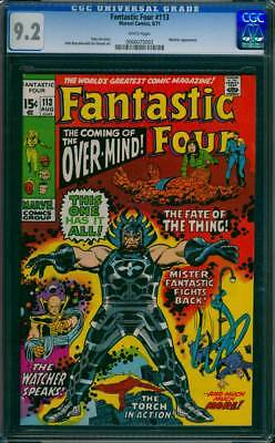 Fantastic Four # 113  The Coming of the Over-Mind !  CGC 9.2 scarce book !