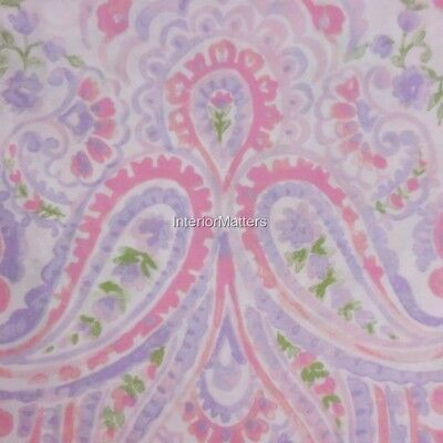 CYNTHIA ROWLEY Paisley FULL QUEEN DUVET COVER SET pastel pink lavender COTTON