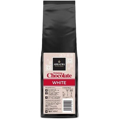 1kg Arkadia White Drinking Hot Chocolate Powder Sicilia Coffee Cafe Use