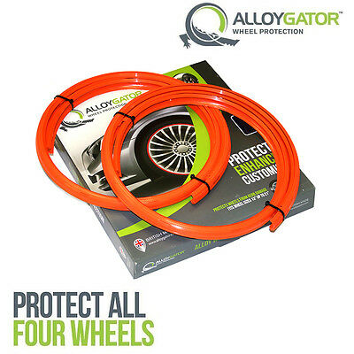 Alloygator Alloy Wheel Rim Protection System Set Of 4 In Orange