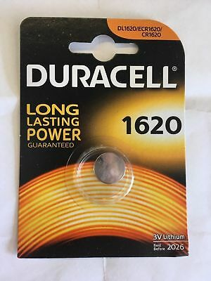 2 x Duracell CR1620 DL1620 3V Lithium Coin Cell Battery Long Lasting 2025