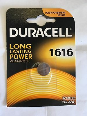 2 x Duracell CR1616 DL1616 3V Lithium Coin Cell Battery Long Lasting