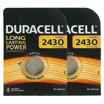 2 x Duracell CR2430 DL2430 3V Lithium Coin Cell Battery Long Lasting 2025