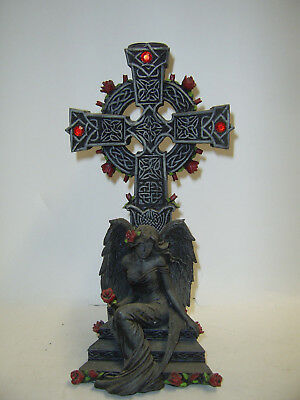 Cross And Angel Candle Holder