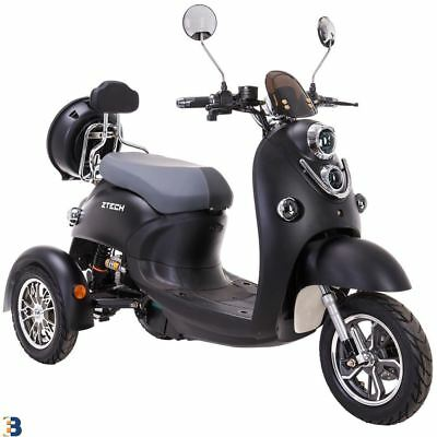 3 Wheeled Retro ELECTRIC MOBILITY SCOOTER 60V 100AH 500W up to 20 mph Black